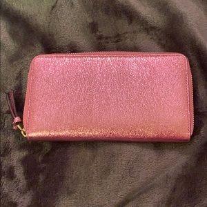 Tory Burch Bags - Tory Burch metallic pink wallet